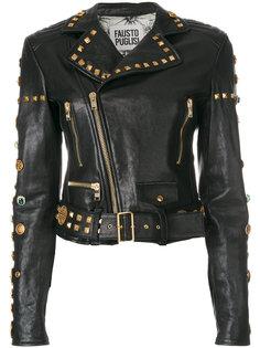 байкерская куртка с заклепками  Fausto Puglisi