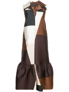 geometric print dress Co