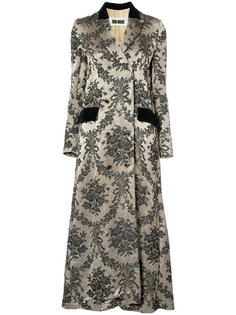 jacquard double breasted coat Uma Wang