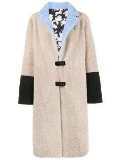 однобортное пальто Febbe Flower Saks Potts