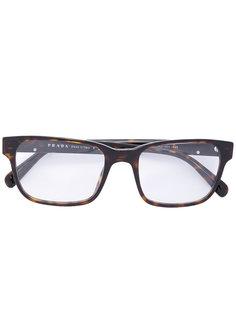 tortoiseshell square frame glasses Prada Eyewear