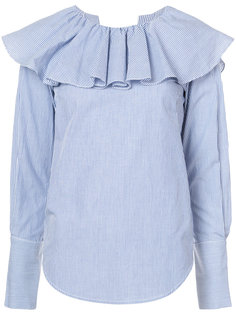 open back ruffle shirt Sea