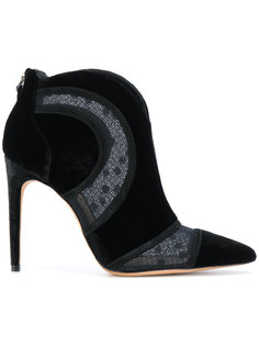sheer panel heeled ankle boots Alexandre Birman