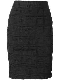 юбка с панельным дизайном Moschino Vintage