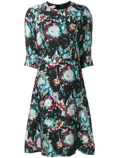 стеганое платье с эффектом краски  Marni