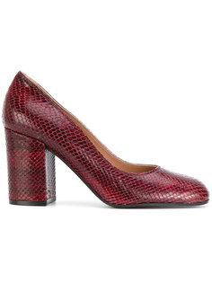 туфли с эффектом змеиной кожи Pollini