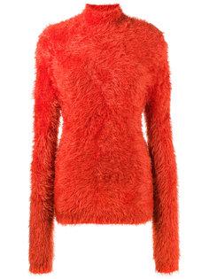 свитер из шенилла с высоким воротом  Marni
