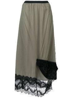 юбка с кружевной оторочкой Antonio Marras