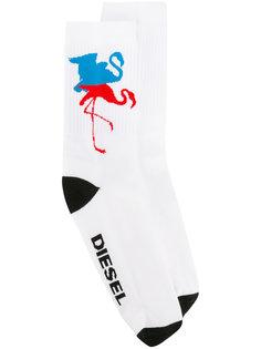 носки с принтом фламинго Diesel