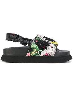 сандалии с цветочной вышивкой Antonio Marras