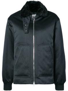 faux fur collar aviator jacket Nomia