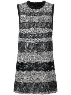 платье с твидовыми и кружевными панелями Giambattista Valli