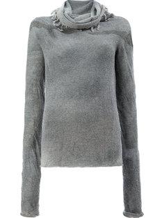 свитер с драпированным вырезом с кисточками Lost & Found Ria Dunn