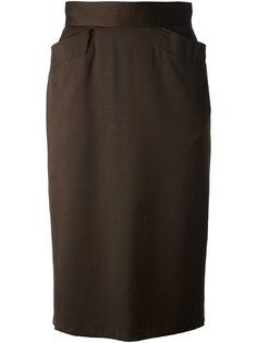 классическая юбка-карандаш  Kenzo Vintage