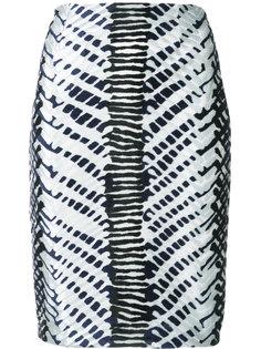 Herringbone high-waisted skirt Yigal Azrouel