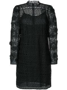 сетчатое платье с цветами Michael Kors