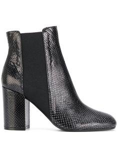 ботинки Челси с эффектом змеиной кожи Pollini