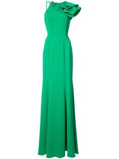 длинное платье с декоративной деталью на плече Jay Godfrey