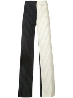 двухцветные брюки в полоску Off-White