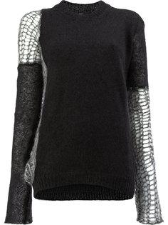 трикотажный свитер в стилистке пэчворк Lost & Found Ria Dunn