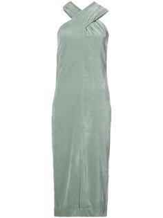 velvet overlay dress Nomia