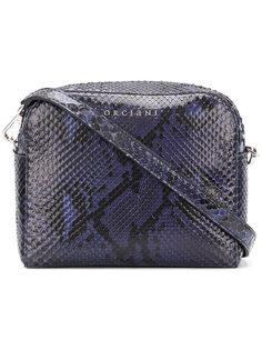 сумка через плечо с эффектом змеиной кожи Orciani