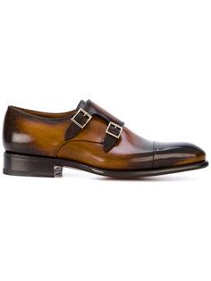 туфли-монки с двумя ремешками Santoni