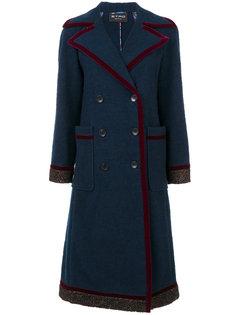 пальто с бархатной отделкой  Etro