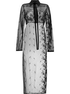 прозрачная длинная блузка Ann Demeulemeester
