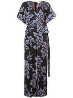 комбинезон с запахом и цветочным принтом Diane Von Furstenberg