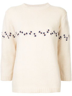 flower embroidered jumper Jupe By Jackie