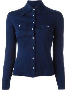 рубашка с косым воротником Céline Vintage