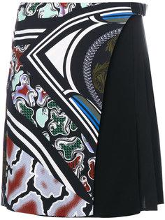 юбка с плиссировкой сбоку  Versace