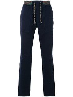 спортивные брюки с контрастным поясом Missoni
