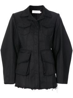 куртка с бахромой и рукавами-кокон  Marquesalmeida