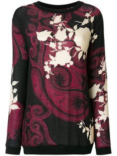 джемпер с цветочным узором и узором пейсли Etro