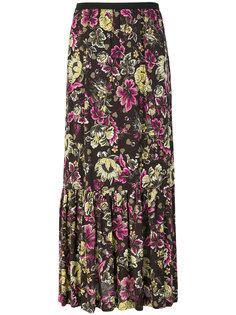 юбка макси с цветочным принтом  IM Isola Marras