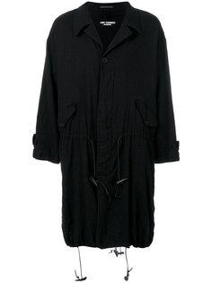 пальто с эластичным подолом Yohji Yamamoto