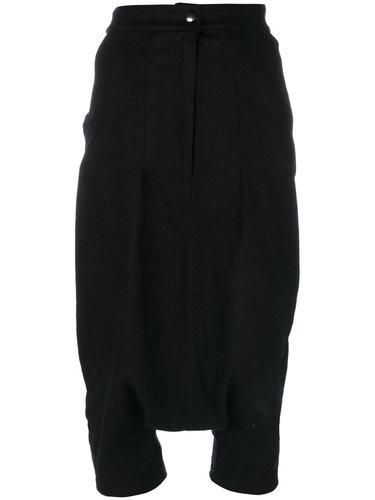 укороченные брюки с заниженным шаговым швом  Andrea Ya'aqov