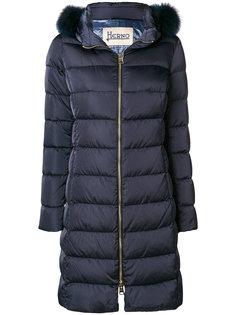 дутое пальто с капюшоном  Herno
