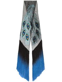 sequined eye fringed scarf Rockins