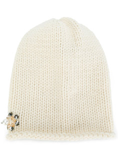 embellished knitted hat Inverni