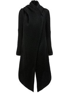 пальто с запахом асимметричного кроя Masnada