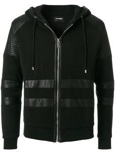 padded shoulder panel zip hoodie Les Hommes Urban