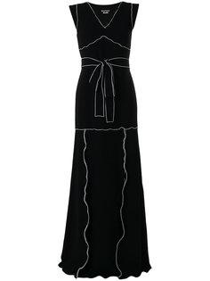 вечернее платье с завязкой на талии и оборками Boutique Moschino