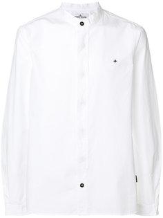 mandarin collar shirt Stone Island