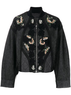 куртка с цветочной вышивкой и пайетками Antonio Marras