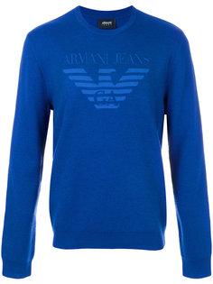 свитер с заплаткой с логотипом Armani Jeans
