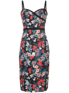 rose print fitted dress Black Halo