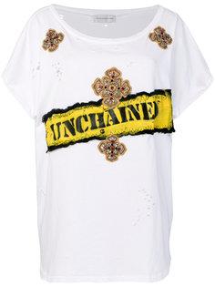 футболка свободного кроя с принтом и вышивкой Faith Connexion